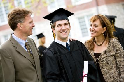 Diplômés avec leurs parents